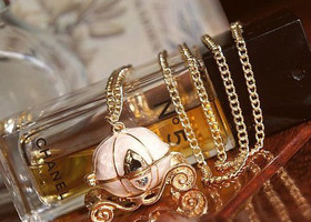 Cinderella's Enchanted Pumpkin Carriage Locket
