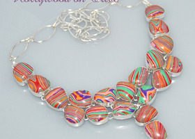 Gorgeous Rainbow Calsilica Necklace