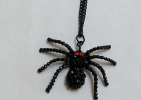 Spooky Red Eyed Black Spider