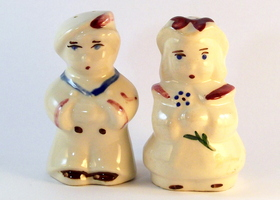 Shawnee Vintage Salt & Pepper Shakers - Bo Peep & Sailo