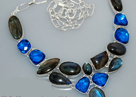 Labradorite London Blue Topaz Necklace