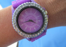 Ladies Purple Silicone/Gel Watch