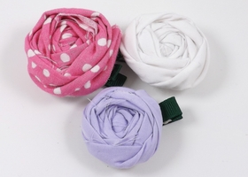 Set of 3 Rosette Hairclips