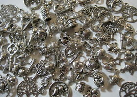 100 Pieces of Tibetan Silver Charms