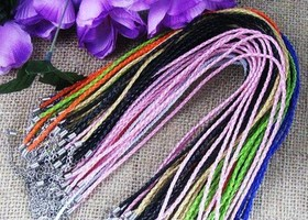 10 pcs of Braided Leather  necklaces