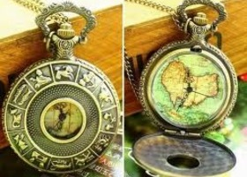Beautiful Pocket Watch Necklace