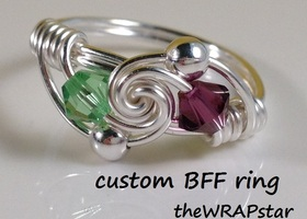 BFF Ring / Love Ring with Custom Birthstones