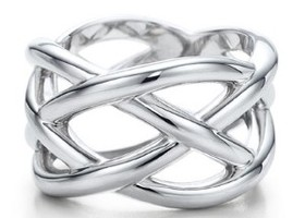 Silver Eternity Knot Ring, Sizes 5,6,7,8,9,10