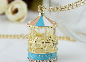 Adorable Carousel Necklace