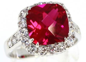 Savvy (6 Carat) Ruby Red CZ Ring