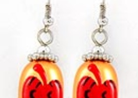 Painted Halloween Earrings