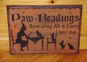 CATS Primitive Paw Readings Sign