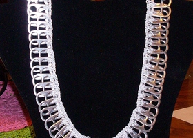 Crochet & Pop Top Aluminum Necklace