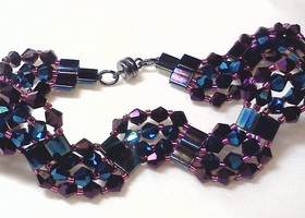 Blue & Purple Waves Bracelet