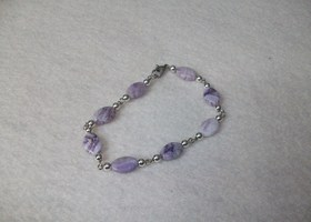 Sugalite Bracelet with Silver Accent