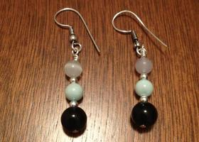 Mint Chocolate dangle earrings