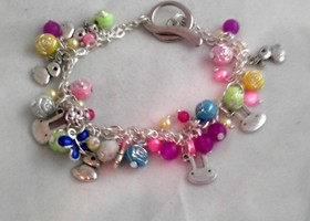 Easter Bunny bracelet and earrings set