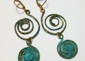 Handmade Hammered and Oxidized Copper Earrings