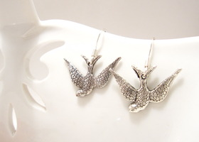 Silver Bird Earrings - I'm Free!