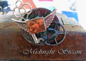 MIDNIGHTsteam STEAMPUNK NECKLACE