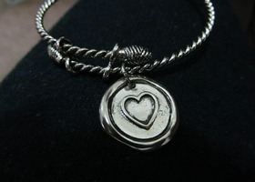 Cookie lee heart bracelet