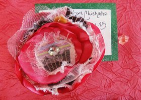 Shabby Chic Multi Layer Flower Clip