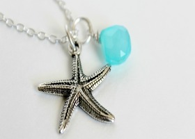 Aqua Starfish Necklace