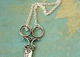Victorian Scissor Necklace