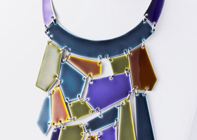 Art Deco Stained Glass Necklace