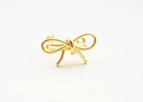 Ear Cuff Gold Bow Dainty