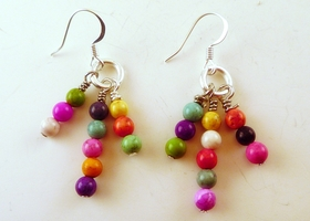 Confetti Magnasite Stone Earrings