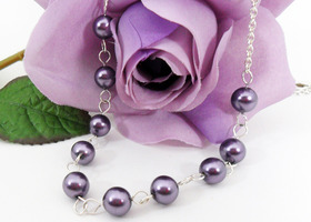 Pearl Necklace (Can Be Made In Color Of Your Choice!!) - BONUS OFFER