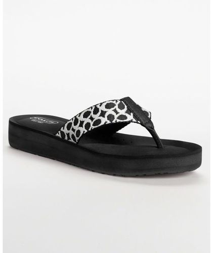 c728fabb6 New COACH Jessalyn Signature C Flats Flip Flops Sandals