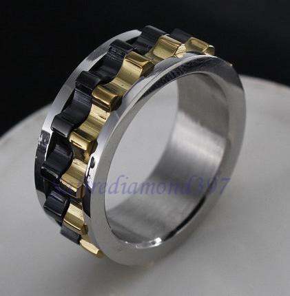 A. Stainless Steel sz 8,8.5,9,9.5 w/moving gear ring | Tophatter