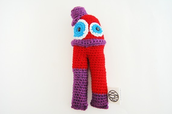wool monster doll crocheted ooak